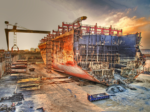 MSC Napoli In Drydock - Copyright 2008, Flickr's Frodog