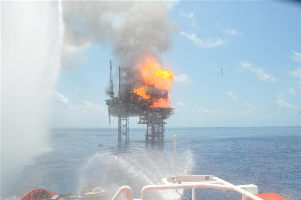 West Atlas Rig Fire 4
