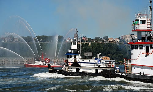 Tugboats and Fireboat Spray