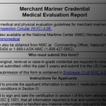 Changes to Coast Guard medical form cause problems for merchant mariners