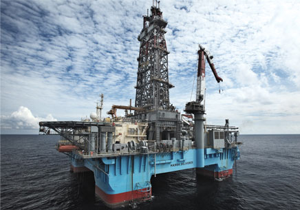 Maersk deliverer semi-submersible drilling rig