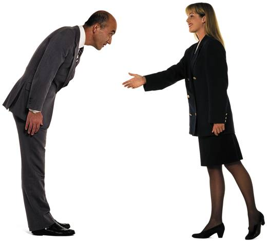 Culture clash 30 ways to avoid offending the next person you meet handshake bow m4hsunfo Images