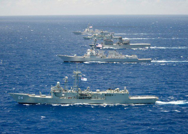 rimpac HMAS Darwin Stockdale Japanese Self Defense Force Ship JS Shirane HMAS Perth USS Chung Hoon