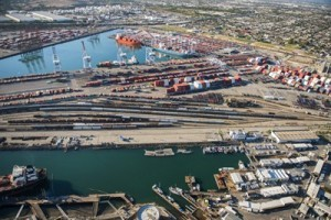 Port Of Los Angelas Aerial Photograph