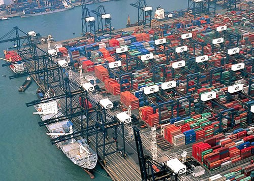 port hong kong container shipping containers