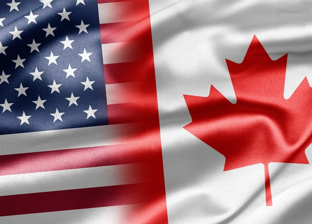 canada united states flag shutterstock