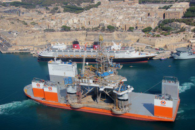 dockwise vanguard drilling rig
