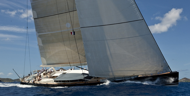 perini navy racing yacht