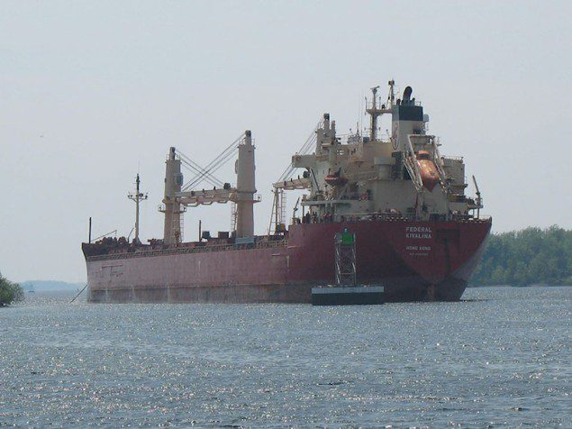 The MV  Federal Kavalina as seen on May 26, 2014. U.S. Coast Guard Photo