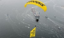 Greenpeace Goes Bananas as Sovcomflot Tanker Arrives in Rotterdam