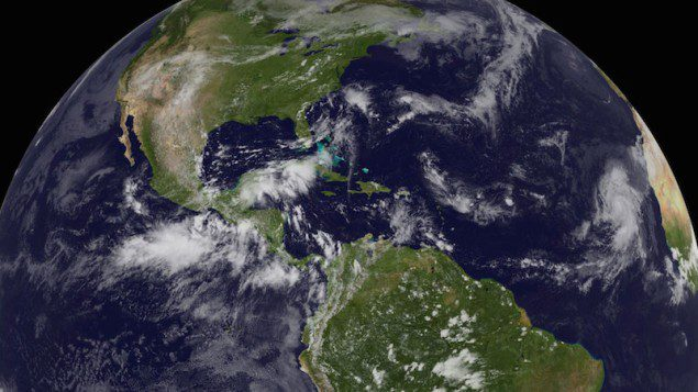 Humberto was the first of only two Atlantic hurricanes in 2013. It reached peak intensity, with top winds of 90 mph, in the far eastern Atlantic. Image courtesy NOAA