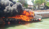 PHOTOS: Pilot Boat Goes Up in Flames