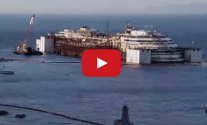 Watch: New Time-Lapse Shows Progress in Costa Concordia Refloating