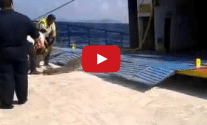 Watch: Greek Island Ferry Loading Cars Looks Super Sketchy