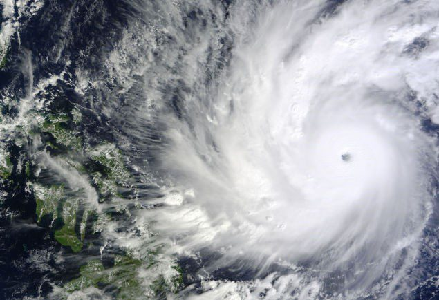 The MODIS instrument aboard NASA's Terra satellite shows Super Typhoon Hagupit approaching the Philippines, Dec. 4 at 02:10 UTC. Image Credit: NASA Goddard's MODIS Rapid Response Team