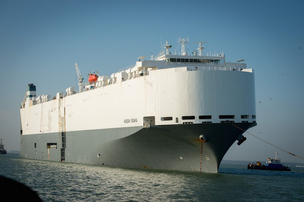 Car Carrier Hoegh Osaka Heads For Falmouth After Cargo