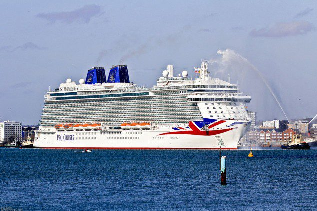 The P&O cruise ship Britannia, christened this month, is Carnival Corp.'s newest ship and the largest in the P&O fleet. Photo: Creative Commons
