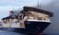Scorched 'Sorrento' Ferry Towed to Port