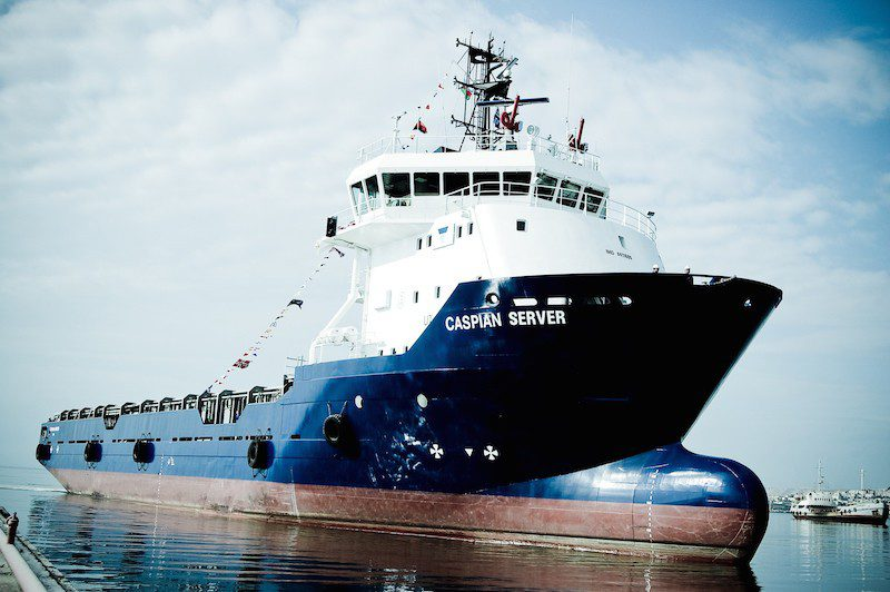 The PSV Caspian Server. Photo: Topaz Energy and Marine