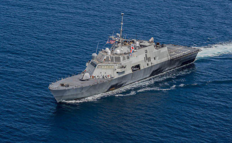 The littoral combat ship USS Fort Worth (LCS 3). U.S. Navy Photo