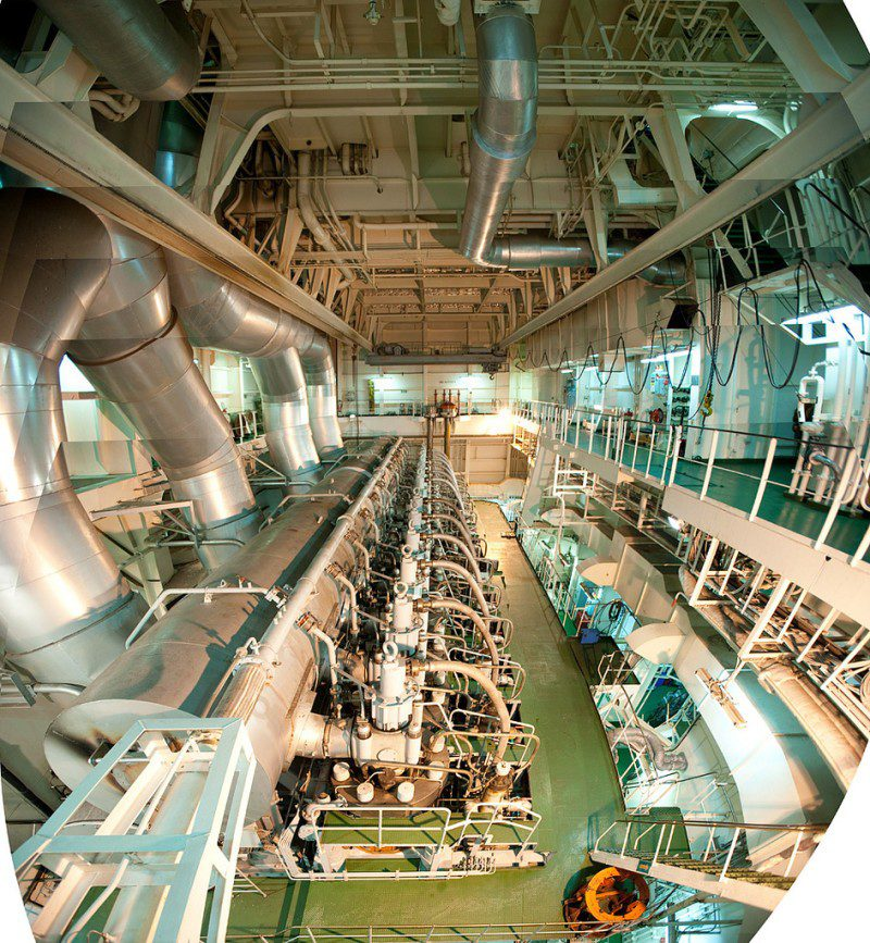 Containership Engineroom