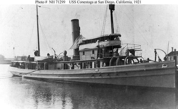 USS Conestoga (AT-54) circa 1921.