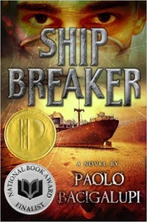 Ship Breaker book cover by Paolo Bacigalup