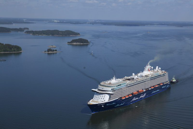 Mein Schiff 5 delivery. Credit: Meyer Turku