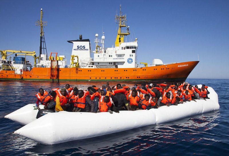 """""""We created our group to respond to the moral and legal obligation to save lives,"""" said Sophie Beau, co-founder of SOS Mediterranee, which operates the MS Aquarius, pictured here, with donations. Photo: SOS Mediterranee"""
