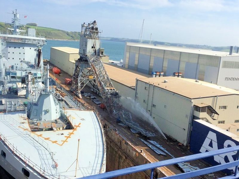 falmouth docks crane collapse