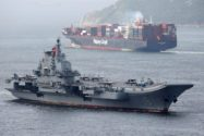 Chinese Aircraft Carrier Sails into Hong Kong on Maiden Visit