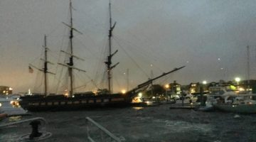 Tall Ship 'Oliver Hazard Perry' Loses Power, Hits Boats in Newport Harbor, RI