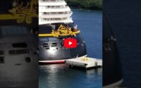 WATCH: Disney Dream Backs Into Pier in Bahamas