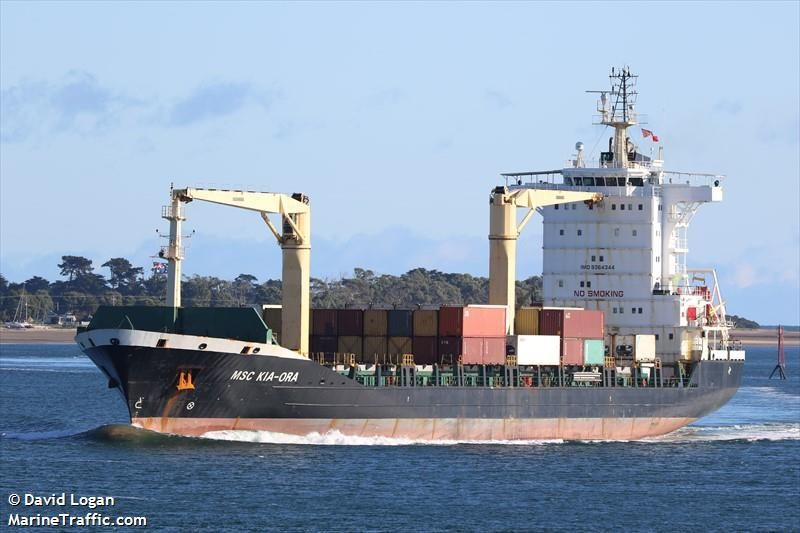 MSC Kia Ora banned from australia