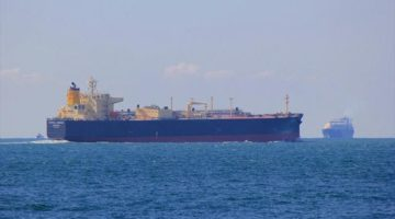 Butane Leaks After Very Large Gas Carrier and Tanker Collide Singapore -AIS Replay