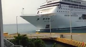 Caught on Video: MSC Cruise Ship Crashes Into Dock in the Caribbean