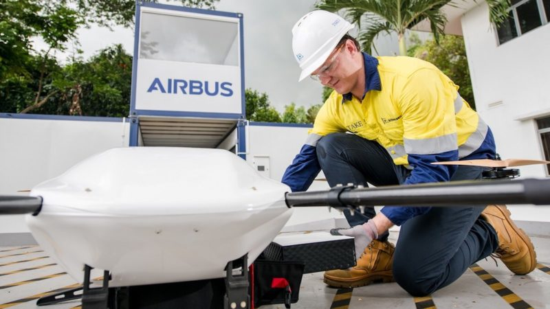 shore-to-ship drone delivery